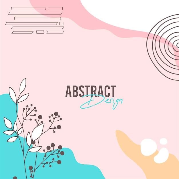 Sfondo astratto. modello di design moderno in stile minimal. elegante copertina per presentazione di bellezza, design del marchio. illustrazione vettoriale Vettore gratuito
