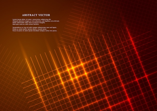 Abstract background in modern style glowing mesh