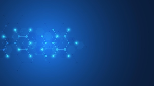 Abstract background of molecules
