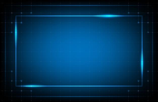 Абстрактный фон синей рамкой hud ui технологической линии