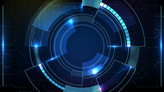 푸른 미래 기술 hud 디스플레이 인터페이스의 추상적 인 배경