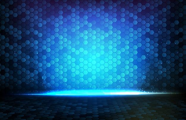 Абстрактный фон синего светящегося прямоугольника квадрата