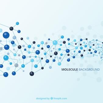 파란 분자의 추상 배경