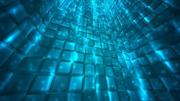 明るく輝く粒子とパスの抽象的な背景