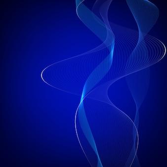 Абстрактный фон из ярких волновых линий