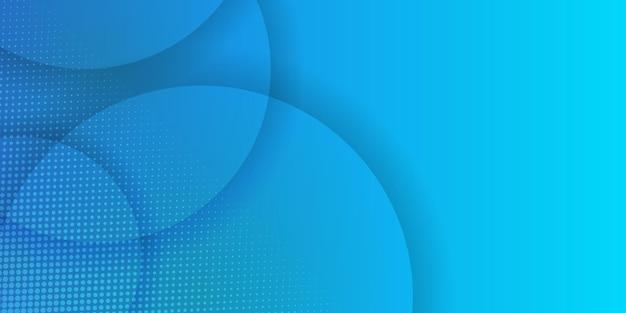 ハーフトーンの装飾が施された水色の円の抽象的な背景。