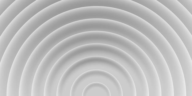 그림자, 회색, 흰색 색상, 3d 스타일이 있는 원의 추상적인 배경. 그래픽 템플릿, 인쇄 템플릿, 브로셔, 웹, 표지에 대한 기하학적 벡터 텍스처