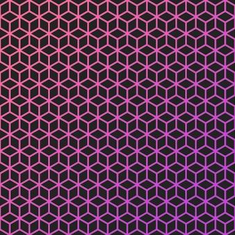 カラー線画キューブの抽象的な背景