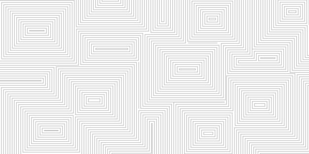 회색 색상의 동심 사각형의 추상적 인 배경
