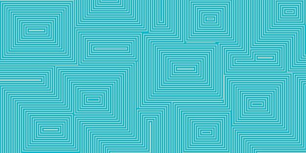 밝은 파란색 색상의 동심 사각형의 추상적 인 배경
