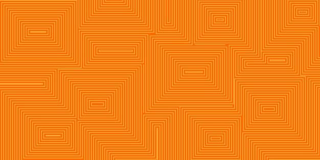 オレンジ色の同心の正方形の抽象的な背景