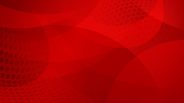 Абстрактный фон из изогнутых линий, кривых и полутоновых точек в красных тонах
