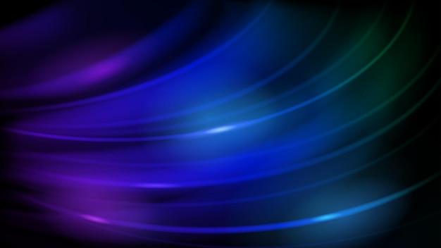青にglaむ曲線の抽象的な背景