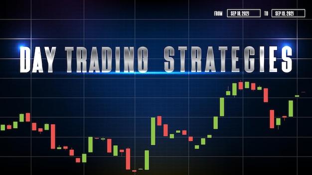 Абстрактный фон дневных торговых стратегий и графика технического анализа