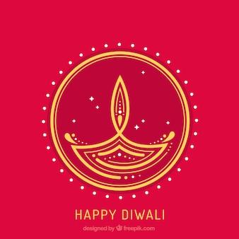 Абстрактный фон из diwali candle