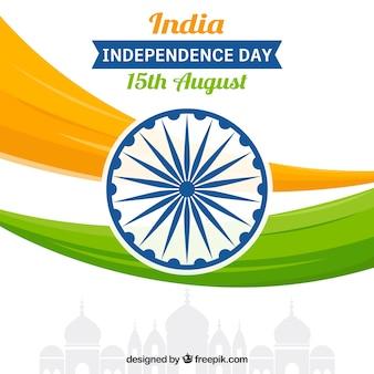 Абстрактный фон с флагом индии