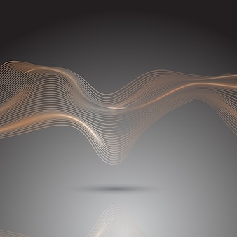Abstract background of flowing lines