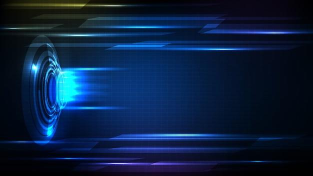 光と未来的なhudguiバトルファイトディスプレイパネルの抽象的な背景