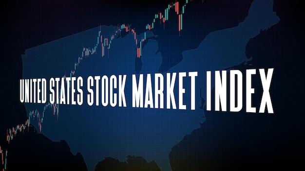 Абстрактный фон сезона доходов футуристических технологий индекса фондового рынка сша (us30)
