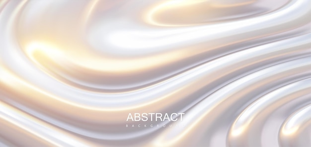 波状の波紋のある光沢のある表面の抽象的な背景