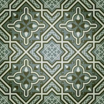 緑の油絵の具の装飾的なシームレスパターンの抽象的な背景