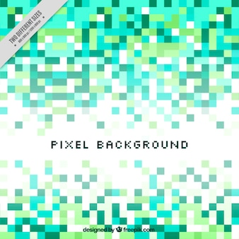 Abstract background of green tones pixels