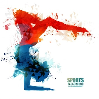 Abstract background of gymnast