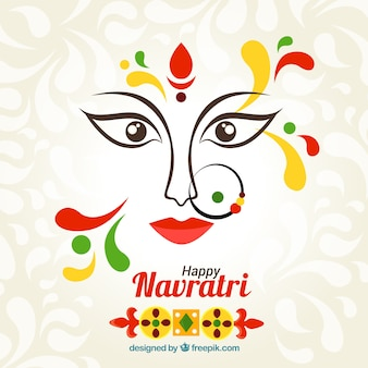 Abstract background of happy navratri