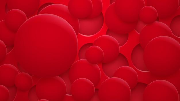赤い色の影と穴や円の抽象的な背景