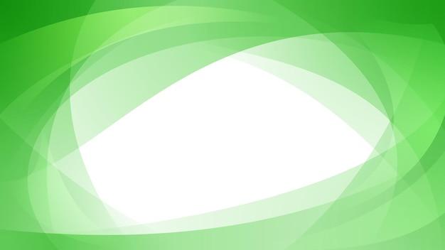 緑の色で交差する曲線の抽象的な背景