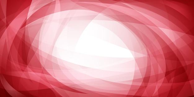 Абстрактный фон из пересекающихся кривых и изогнутых полупрозрачных форм в красных тонах