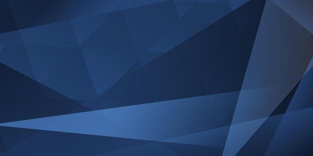 파란색 색상의 교차 선과 다각형의 추상적 인 배경
