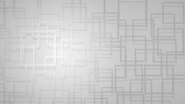 Абстрактный фон из пересекающихся квадратов с тенями в серых тонах