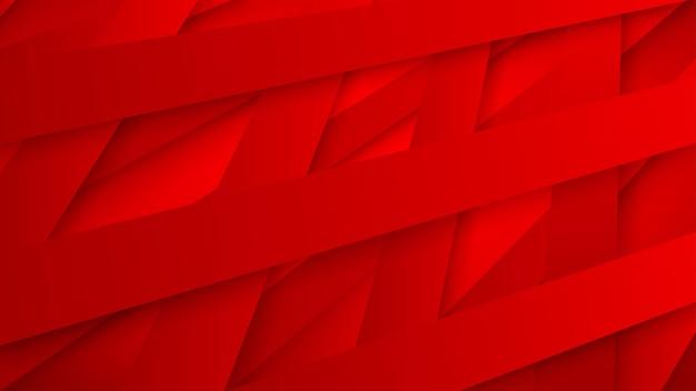 影と織り交ぜられた赤い縞の抽象的な背景