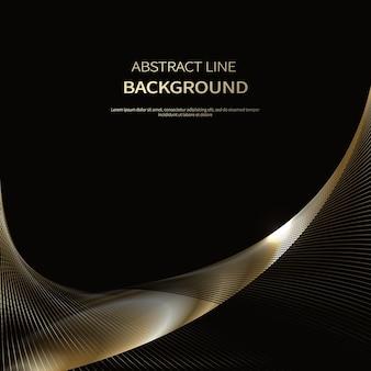 Абстрактный фон роскошных золотых линий брошюры плакат фон
