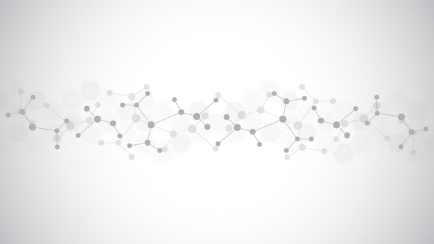 분자 구조의 추상적인 배경