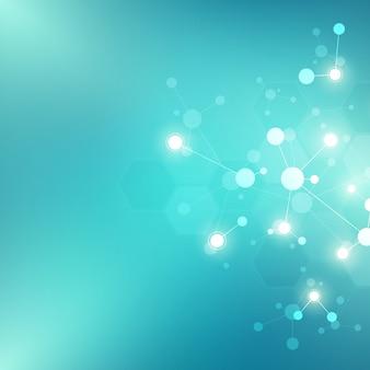 분자 구조의 추상 배경