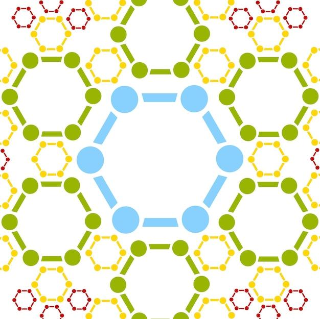 分子構造の抽象的な背景。医療ベクトルデザイン