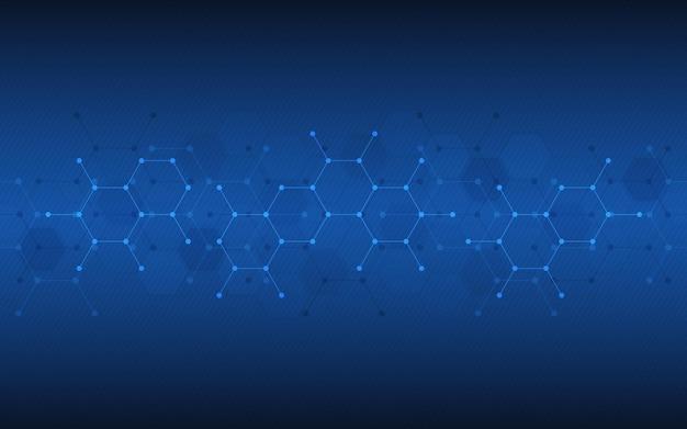 분자 분자 구조 또는 화학 공학 유전 연구의 추상적 인 배경