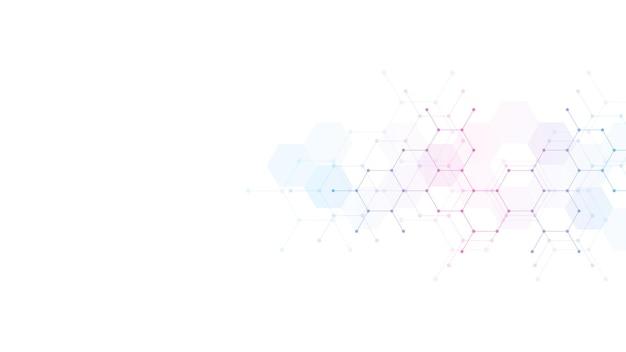 分子の抽象的な背景。分子構造。科学的、技術的または医学的概念。