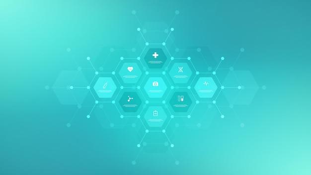 분자의 추상적 인 배경입니다. 분자 구조. 과학, 기술 또는 의료 개념.
