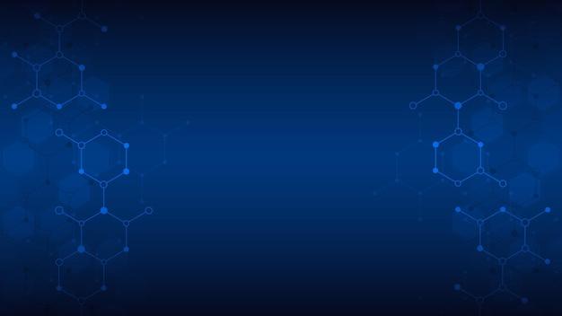 분자의 추상적인 배경