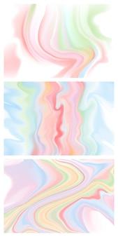 渦巻くピンクの流体インクの抽象的な背景