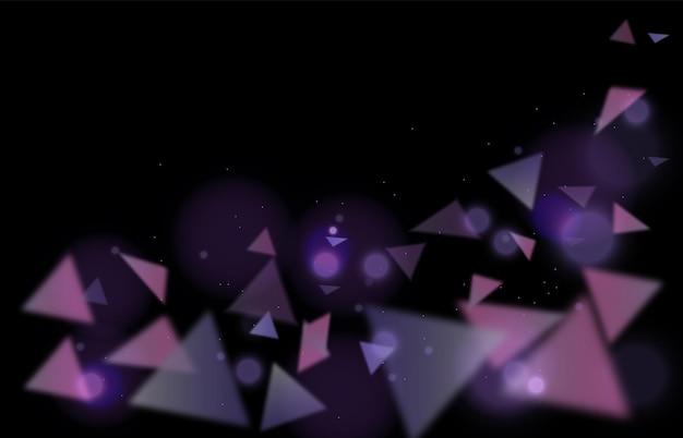 보라색 삼각형의 추상적인 배경