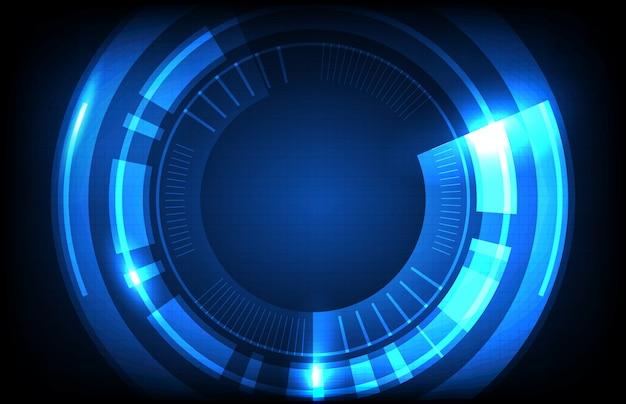 Абстрактный фон из круглых футуристических технологий пользовательского интерфейса экрана hud