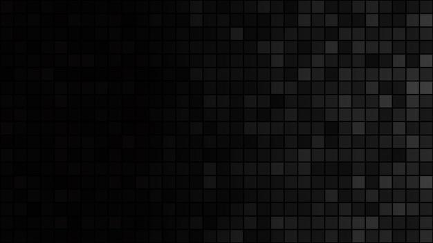 Абстрактный фон из маленьких квадратов в черном и сером цветах с горизонтальным градиентом