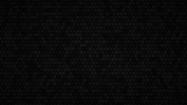 Абстрактный фон из маленьких квадратов в оттенках черного цвета