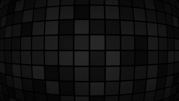 Абстрактный фон из маленьких квадратов или пикселей в черном и сером цветах