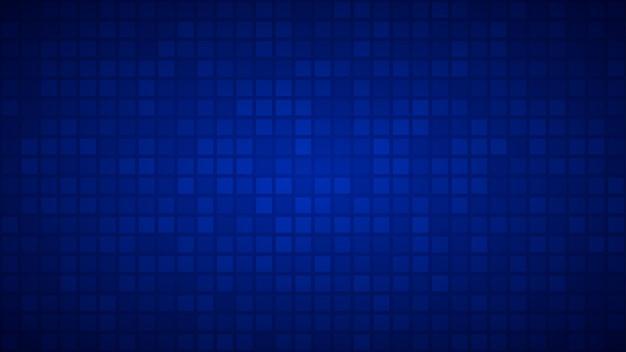 Абстрактный фон из маленьких квадратов или пикселей синего цвета.