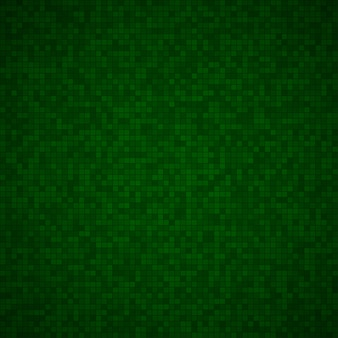 Абстрактный фон из маленьких квадратов или пикселей в темно-зеленых тонах